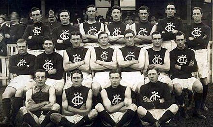 The 1914 Carlton team photographed at the old East Melbourne Cricket Ground. Carlton fc 1914.jpg