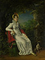 Carolina Ferdinanda Louisa van Sicilië (1798-1870). Echtgenote van Karel Ferdinand, hertog van Berry, in het park van Bagatelle in het Bois de Boulogne bij Parijs Rijksmuseum SK-C-1525.jpeg