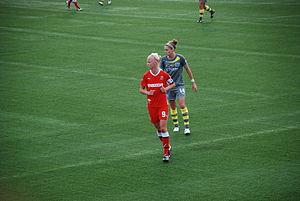 Caroline Seger - Seger (9) in the 2011 WPS Championship