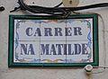 Carrer de Na Matilde de Quatretondeta, placa.JPG