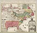Carte De La Nouvelle France, Nicolas de Fer, coloriée.jpg