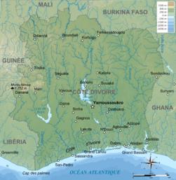 Carte topographique de Côte d'Ivoire.png