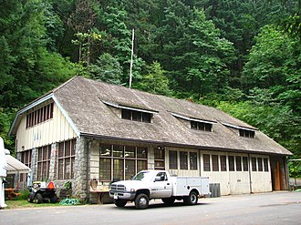 National Register of Historic Places listings in Hood River County, Oregon - Image: Cascade Locks Work Center Cascade Locks Oregon