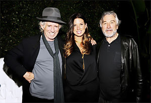 Casey Patterson - Patterson with Robert De Niro and Keith Richards at Guys Choice Awards.