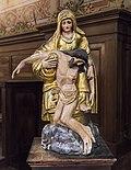 Castelnau-d'Estrétefonds Eglise - Groupe sculpté - Vierge de Pitié IM31000099.jpg