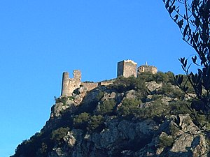 Alange - Image: Castillu d'Alanhi