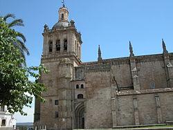 Fachada de la Catedral de Coria