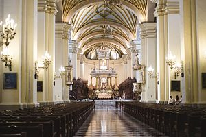 Cathedral Basilica of St. John the Apostle and Evangelist, Lima - The nave of the Cathedral.