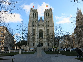 Co-cathedral - Cathedral of St. Michael and St. Gudula in Brussels, Belgium.