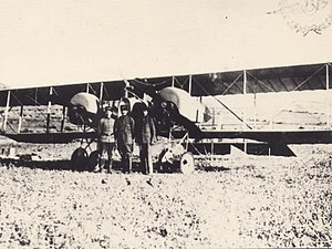 Otto Brauneck - A Caudron G.4 of the Ottoman Air Force; a Caudron G.4 was Brauneck's fifth confirmed victory in Macedonia.