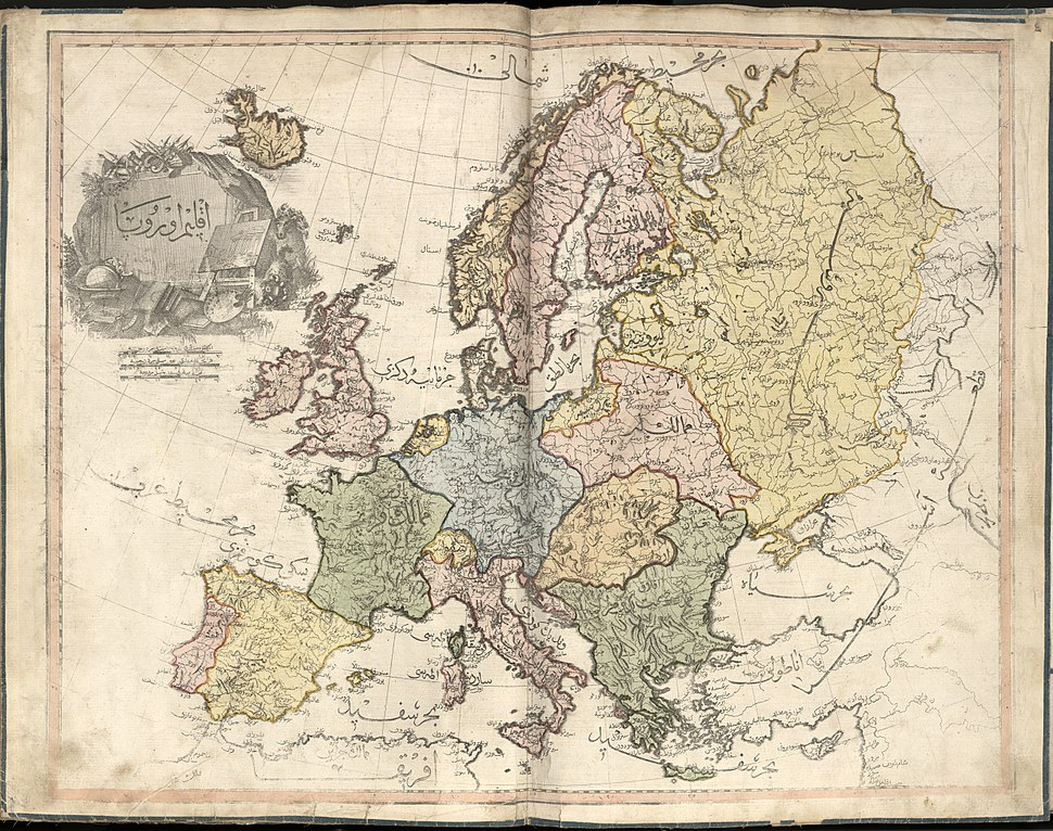 Cedid Atlas (Europe) 1803