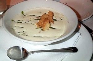 Celeriac - A bowl of celeriac soup.