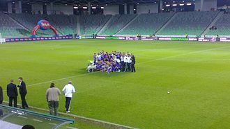 2011–12 Slovenian Football Cup - Image: Celje v Maribor 2012 Cup Final (1)