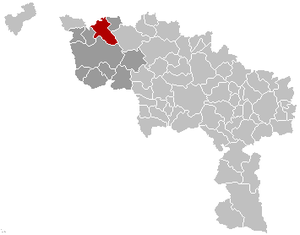 Celles, Hainaut - Image: Celles Hainaut Belgium Map