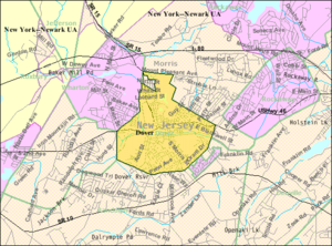 Dover, New Jersey - Image: Census Bureau map of Dover, New Jersey