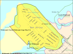 Census Bureau map of West Wildwood, New Jersey