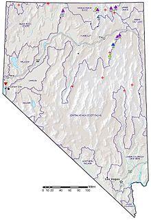 List Of Great Basin Divide Border Landforms Of Nevada