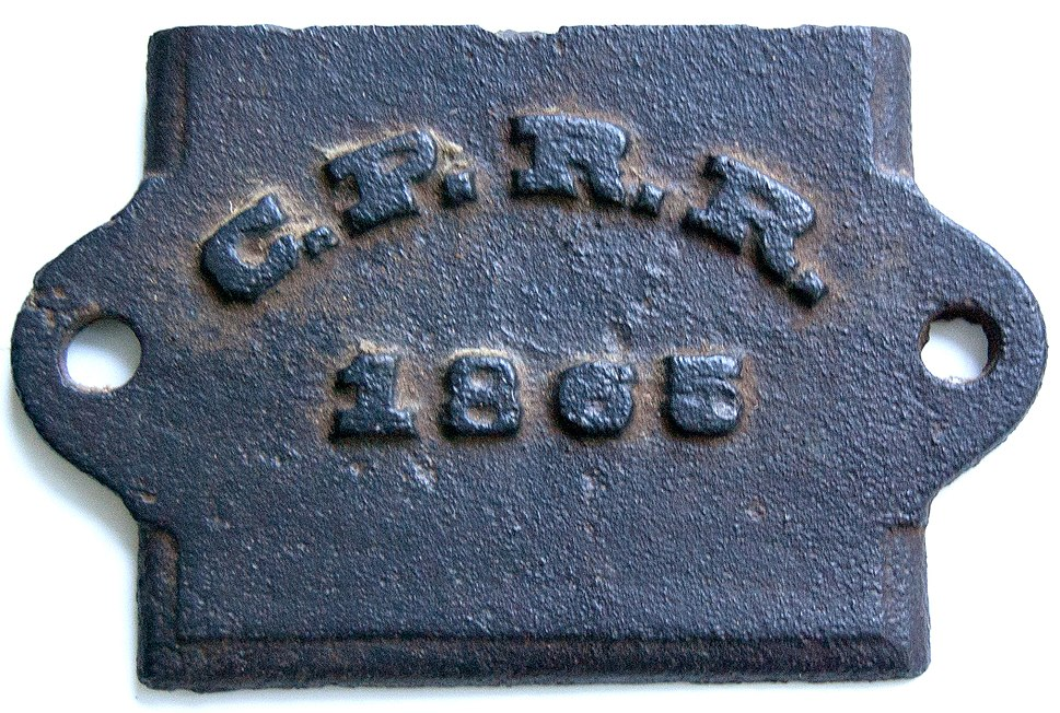 Central Pacific Railroad 1865 sand cast journal box cover