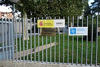 Centro de Estudios Hidrográficos, CEDEX, cartel entrada.jpg