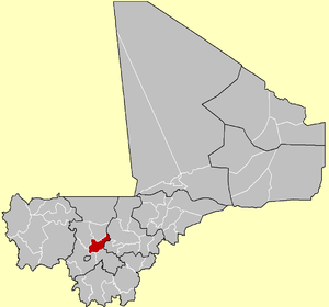 Location of Koulikoro Cercle in Mali