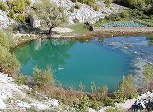 Cetina - The source of the river is a karst spring.