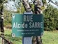 Chénérailles plaque rue Alcide Sarre.jpg