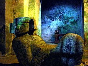 Chac Mool dentro del templo de Kukulkán