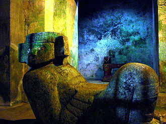 Toltec Empire - A Chac Mool in the temple of Kukulkan in Chichen Itza