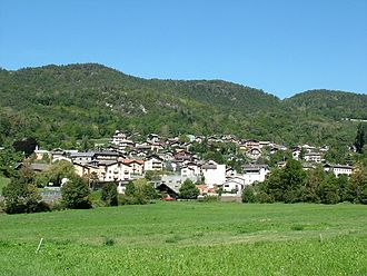 Challand-Saint-Victor - the town in spring