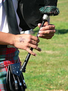 Chanter part of the bagpipes