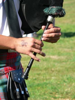 Chanter - The chanter of the Great Highland bagpipe.