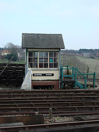 Fotherby Halt railway station - Former Fotherby gate box, now at the East Anglian Railway Museum.