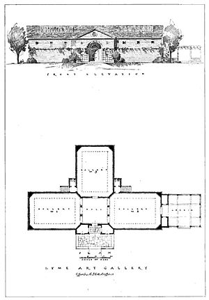 Lyme Art Association - Charles A. Platt plan for Lyme Art Association 1920