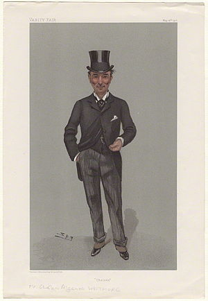 """Charles Algernon Whitmore - """"Chelsea"""". Caricature by Spy published in Vanity Fair in 1901."""