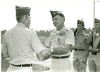 Charles P. Murray Jr. - Murray being congratulated at his military retirement ceremony at Fort Jackson on July 30, 1973