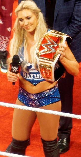 WWE draft - Image: Charlotte as the WWE Women's Champion Raw April 2016