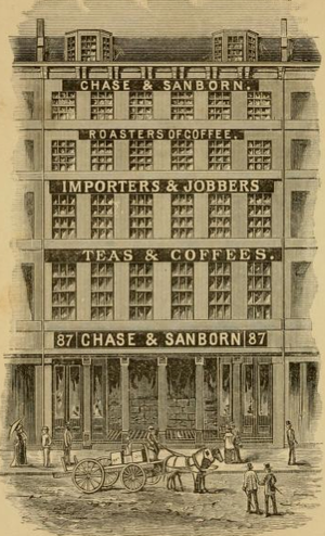 Chase & Sanborn Coffee Company - Image: Chase and Sanborn no 87 Broad St Boston MA