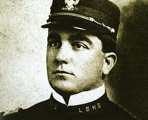 Edmond Chavanne - Chavanne in LSU cadet uniform, 1898