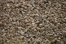 Irregularly cut brown stones with edges