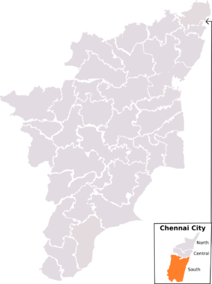 Chennai South (Lok Sabha constituency) - Chennai South constituency, post-2008 delimitation