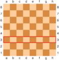 Chessboard with the third rank marked in red.png