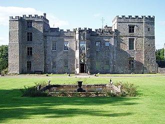 Chillingham Castle - The castle exterior in 2005