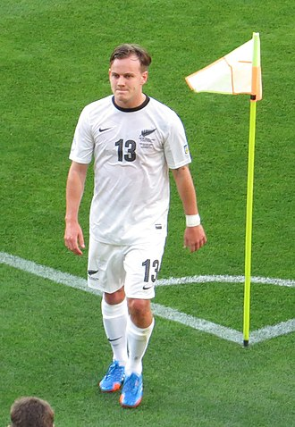 Chris James (footballer) - Chris James playing for All Whites vs Mexico