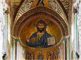 Christ Pantocrator - Cathedral of Cefalù - Italy 2015.JPG