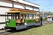 Christchurch Stephenson Tram No 1 turning