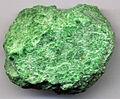 Chromian jade (Hpakan-Tawmaw Jade Tract, Late Jurassic, 147 Ma; Tawmaw, Myitkyina-Mogaung District, western Kachin State, Indo-Burma Range, northern Burma) 1 (15064024030).jpg