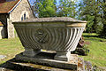 Church of St Mary, Stapleford Tawney, Essex, England - casket tomb at north-west churchyard from north-west.jpg