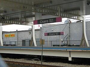 Cicero station (CTA Pink Line) - Image: Cicero CTA Pink Line