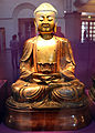 Cina, buddha amituofo (amithaba), metallo dorato.JPG