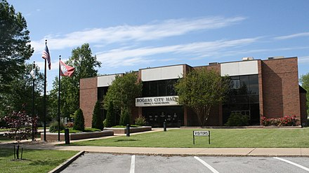 Rogers City Hall City Hall in Rogers, Arkansas.jpg